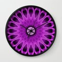 Mandala pink and purple Wall Clock