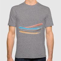 Happy Brushes VS Brown Mens Fitted Tee Tri-Grey SMALL