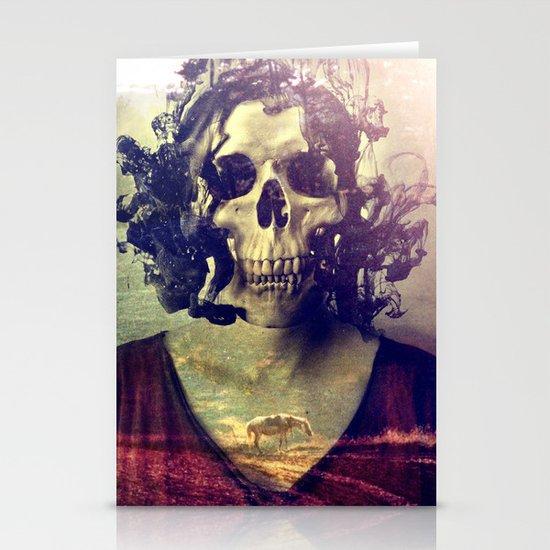 Miss Skull Stationery Card