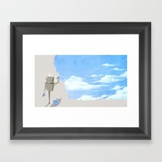 Paint the Walls Blue Framed Art Print