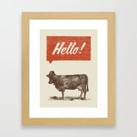 Hello ! Framed Art Print