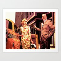 Betty & Don Draper From … Art Print
