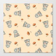 Teddy 5. Pattern Canvas Print