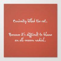 Proverbs: Curiosity Canvas Print