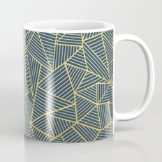 Ab Lines Gold and Navy Mug