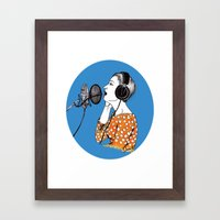SINGING  Framed Art Print
