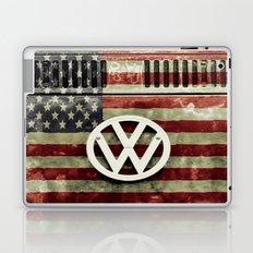 VW Retro US Flag Laptop & iPad Skin