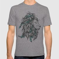 Poetic Lion Turquoise Mens Fitted Tee Tri-Grey SMALL