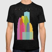 Shapes Of Detroit Mens Fitted Tee Tri-Black SMALL