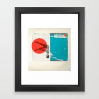 Red Dot Framed Art Print