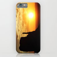 iPhone & iPod Case featuring Sunrise over Monument Valley West Mitten Butte by kreatox