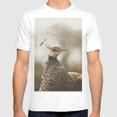 Little Miss Peahen Mens Fitted Tee SMALL White