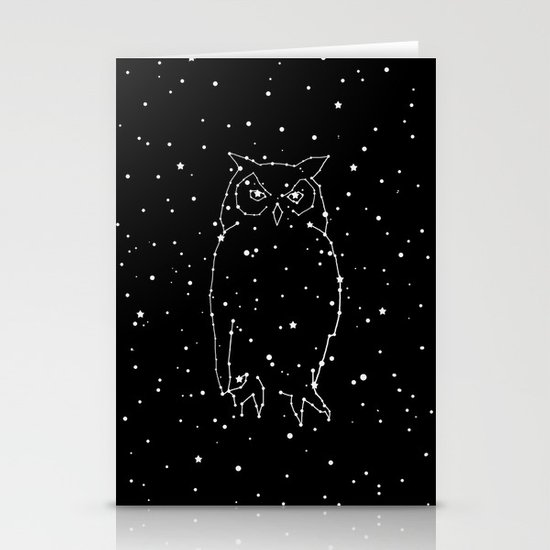 Owl Constellation  Stationery Card