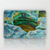 Abstract rocks with barnacles and rock pool Laptop & iPad Skin