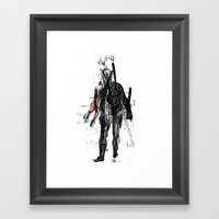 Night-time Philosopher Framed Art Print