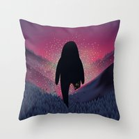 Never Look Back Throw Pillow