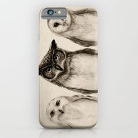 funny iPhone & iPod Cases featuring The Owl's 3 by Isaiah K. Stephens