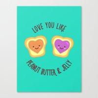 Sweet Lovers Canvas Print