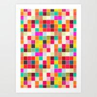 Colorful Rectangles Art Print