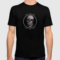 Keep Smiling when your dead II Mens Fitted Tee Black SMALL