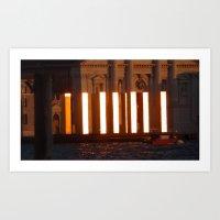 Worship the golden towers Art Print