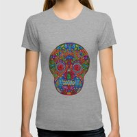 A Really Colourful Skull Womens Fitted Tee Athletic Grey SMALL