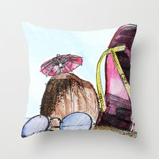 Coconut beach Throw Pillow
