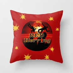 Red Herring - The Spies Who Loved Me Not Throw Pillow