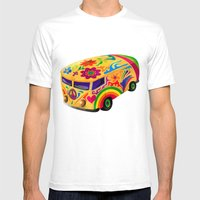 The Flower Power Mini Bu… Mens Fitted Tee White SMALL