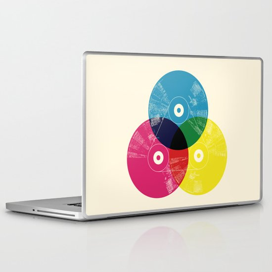 Music is the colors of life Laptop & iPad Skin