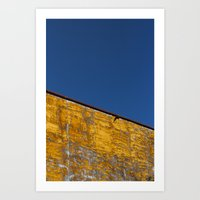 yellow-blue Art Print