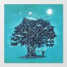 Deep Tree Diving  Canvas Print