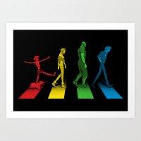 Stray Dog Strut Art Print