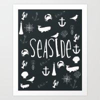 Nautical Seaside Art Print