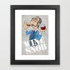 Wine Snob Framed Art Print