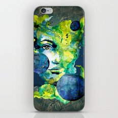 Evelin Green (Set) by carographic watercolor portrait iPhone & iPod Skin