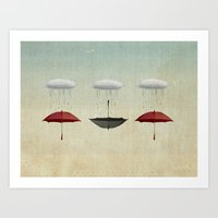 the umbrella filleth Art Print
