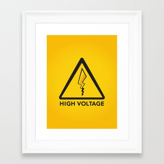 High Voltage Framed Art Print