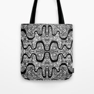 Tote Bag featuring Mayan by Datavis/pwowk