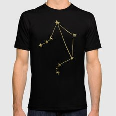 Libra x Astrology x Zodiac Mens Fitted Tee Black SMALL