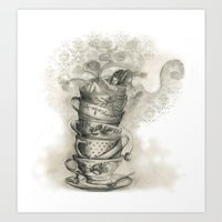 Tea Bath Art Print