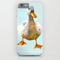 iPhone & iPod Case featuring Duck, Christmas Humor, funny duck, funny animals, cute animal art by eastwitching