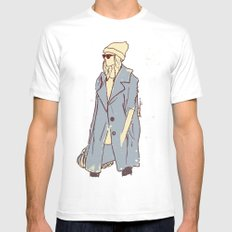 Coat SMALL Mens Fitted Tee White