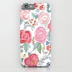 Watercolor Floral Print iPhone 6 Slim Case