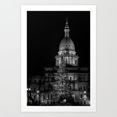 The Michigan Capital  Art Print