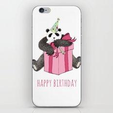 Birthday Panda iPhone & iPod Skin