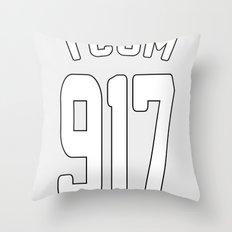 TCOM 917 AREA CODE JERSEY Throw Pillow