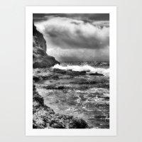 Portugal Beach in infrared Art Print
