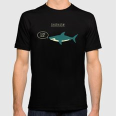 Sharkasm SMALL Mens Fitted Tee Black