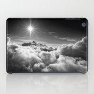 Clouds Black & White iPad Case
